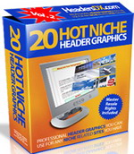 Product picture 20 Hot Niche PSD & JPG Header Graphics