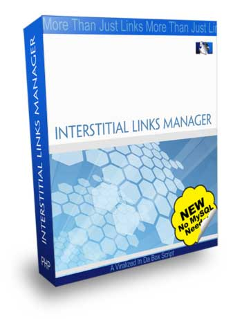 Product picture Interstitial Links Manager - PHP Links Mnager